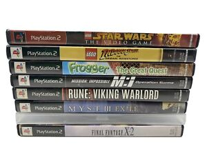 Playstation 2 PS2 8 Game Sci-Fi  Lot Final Fantasy Lego Rune Myst III MI Frogger