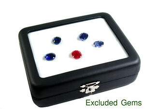 TOP GLASS DISPLAY BOX 9x11 cm. GEM DIAMOND JEWELRY COIN HOLDER KEEPER SHOW CASE