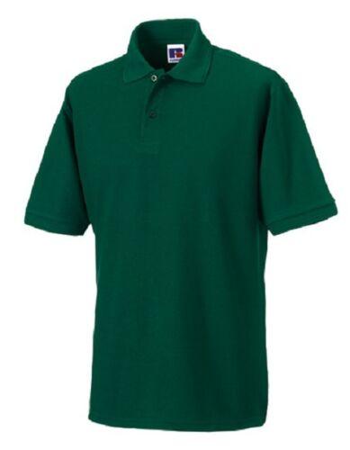 Russell Herren Polo Shirt STRAPAZIERFÄHIG Übergröße bottle green grün 3XL 4XL