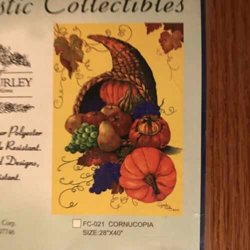 "Artistic Collectibles Cornucopia Glynda Turley All Weather Flag 28/"" x 40/"" New"