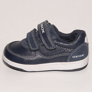 Details zu Geox Respira Boys Blue Leather & Suede Shoes UK 4.5 EU 21 US 5.5