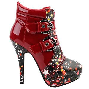 Buckles-Cosmic-Galaxy-Starry-Night-Sky-High-Heels-Stiletto-Platform-Ankle-Boots