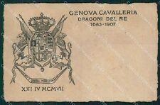 Militari Reggimentali IV Reggimento Genova Cavalleria cartolina XF1992