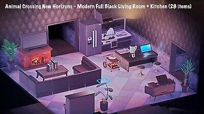 Animal Crossing New Horizons: All Black Living Room ... on Living Room Animal Crossing New Horizons  id=65882