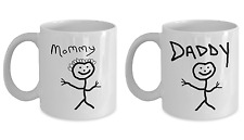 Gift Set of 2 - Daddy and Mommy Coffee Mugs