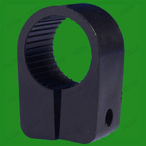 Black Heavy Duty Cable Cleats Clips, Size No. 9, 22.8mm, Pack Sizes from 5x-50x