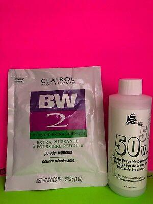 Clairol Bw2 Powder Lightener W 4oz 10 50 Vol Peroxide Developer Ebay