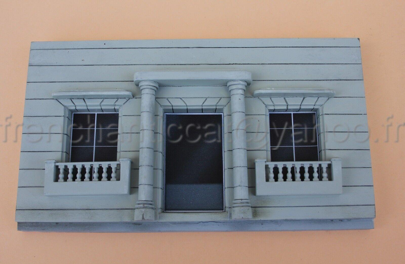 AE' Façade maison style coloniale 1 43 diorama Heco voiture delage bugatti train