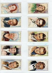 1934 Film Stars 2nd series Complete Players Tobacco Card Set 50 cards collection