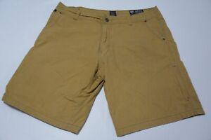 Kuhl-Vintage-Patina-Dye-Light-Khaki-Brown-Cotton-Blend-Hiking-Shorts-Sz-38