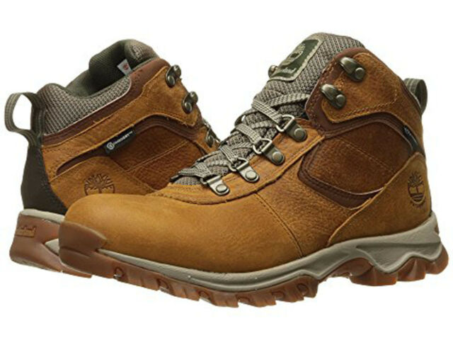 b2abd2ab592 Timberland Men's Mt. Maddsen Mid Leather WP Winter Boot 10 Wide US Light  Brown Full Grain