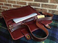 VINTAGE 1980's SACOCHE BASEBALL GLOVE LEATHER BRIEFCASE BAG MADE IN USA R$998