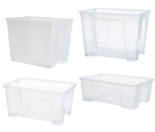 IKEA SAMLA Box transparent Aufbewahrung Verstauen Kiste Unterbettboxen Regal