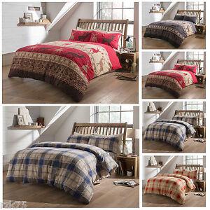 Luxury Flannelette Duvet Cover Set 100 Soft Cotton Single