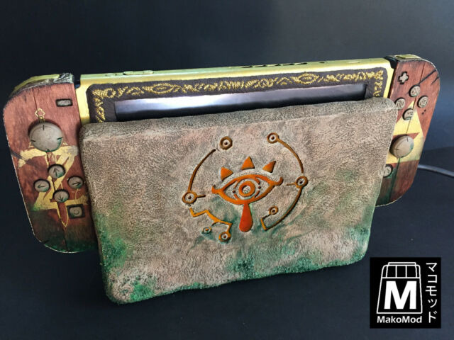'sheikah switch mod' , the zelda breath of the wild custom console by makomod