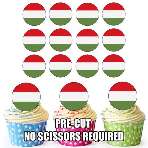 Tasse Kuchentopper Dekorationen Party Geburtstag 24 Kreis Ungarn Flaggen