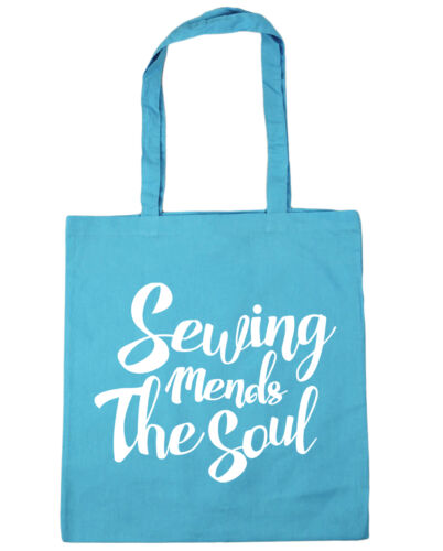 Sewing Mends The Soul Tote Shopping Gym Beach Bag 42cm x38cm 10 litres