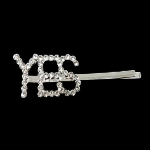 Women/'s Girls Pearl Letter Hair Clip Hairpin Slide Grips Barrette Gold Silver ☆☆