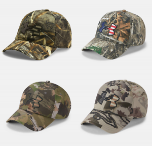 a15861a9311 New Under Armour UA Camo Big Flag Logo Cap Men s Hunting Hat OSFA ...