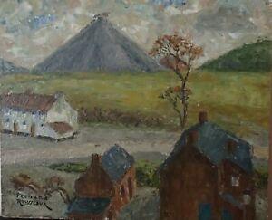 Fernand Rousseaux Peinture Sur Agglo 40 X 33 Cm Terril A Montigny Ebay