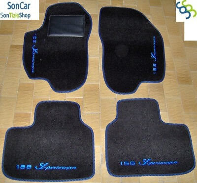 ALFA ROMEO 156 Sportwagon TAPPETI AUTO 4LOGHI+8 BLOCK!