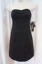 Kensie Dress Sz 4 Solid Black Strapless Short Cocktail Party Club Wear Dress