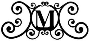 New Black Wrought Iron Monogram Letter Over the Door House Plaques Metal Decor