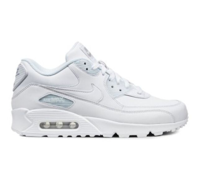 sale retailer ac459 5913b Nike Air Max 90 All Leather - White (302519-113) for sale online | eBay