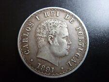 1891 Portogallo 500 REIS Argento
