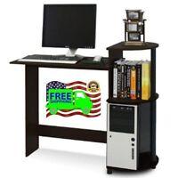 Gaming Computer Laptop Compact Desk Espresso Black Office Home Furniture Furinno