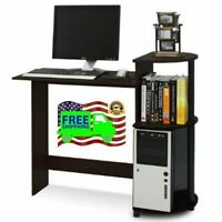 Gaming Computer Laptop Compact Desk Espresso Black Office Home Furniture Furinno