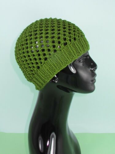 PRINTED INSTRUCTIONS SIMPLE CHUNKY LACEY SKULLCAP BEANIE HAT KNITTING PATTERN