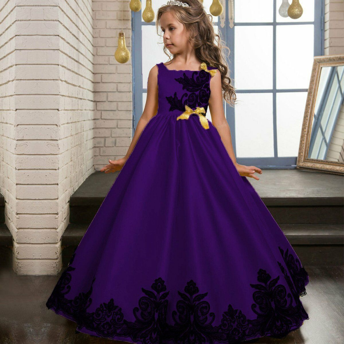 Dama De Honor Vestido Princesa Niño Boda Paje Fiesta Formal gowntutu ...