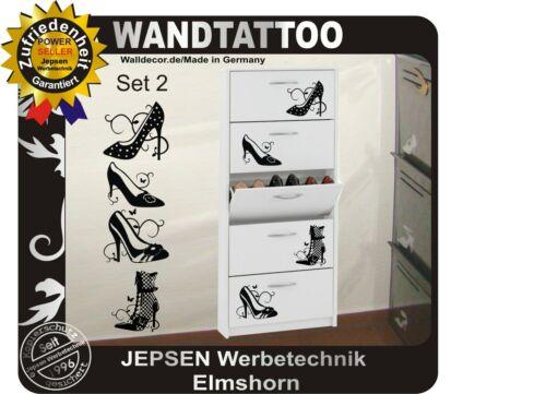 4er Shoes pömps for Shoe Cabinet Wall Tattoo Set 2 Pumps Sticker Color Choice