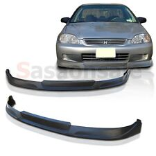 Made for 1999-2000 Honda Civic Coupe Sedan 2dr 4dr TC Style Front PU Bumper Lip