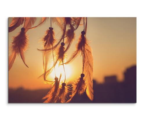 Traumfänger im Sonnenuntergang Wandbild auf Leinwand in verschiedenen Größen