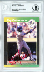 Rey Quinones Autographed Signed 1989 Donruss Card #330 Mariners Beckett 10540579