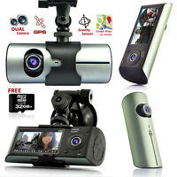 Gps Tracker Dash-cam Dual Camera Driving Recorder Support Google Map Free 32gb