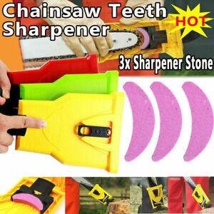 Holzbearbeitung Kettensäge Zähne 3xStone Sharpener Schleifen Kettenspitzer Feile
