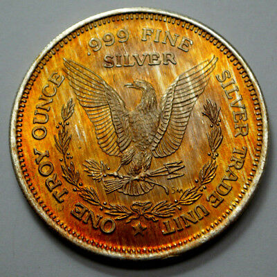 Bloomsday Run Medallion 1 troy oz 999 fine antique silver RARE 1986