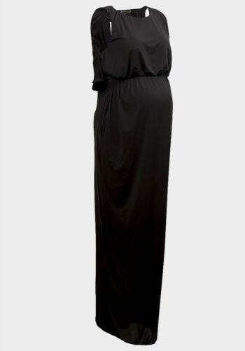 Bye Rosie/' Victoria/' Maternity Black Maxi Dress Rock-a Made In England