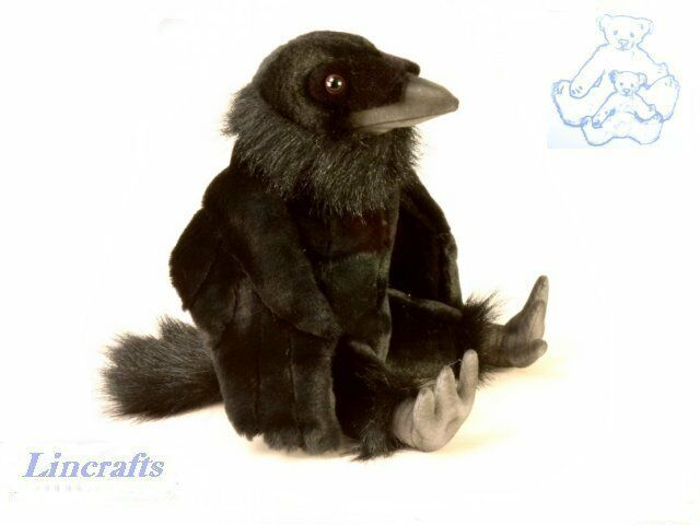 Hansa Sitting Raven 4943 Plush Soft Toy Sold by Lincrafts  Established 1993