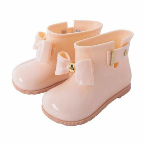 Girls Kids Infant Toddler Children Bowknot Non-Slip Wellington Rain Boots Shoes
