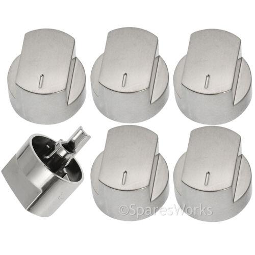 Argent 6 Interrupteur Boutons pour Poêles Four et plaque de cuisson Cuisinière 444445538 44445572 61 DFDO 61GDO