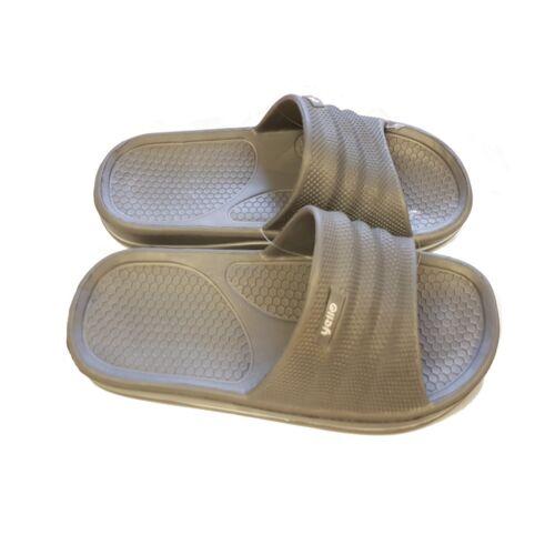 Mens Pool Shoes Flip Flop Mule Sandal UK Size 7 8 9 10 Beach Holiday Summer Grey