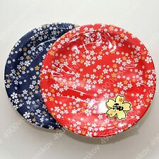 traditional japanese floral cherry blossom pattern party paper plate 32pc18cm