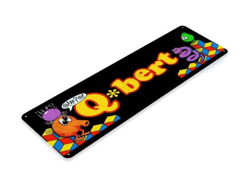 TIN SIGN Q-bert Arcade Shop Game Room Marquee Console Metal Décor Cave A840