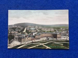 Vintage-hand-coloured-postcard-Derbyshire-Buxton-The-Crescent