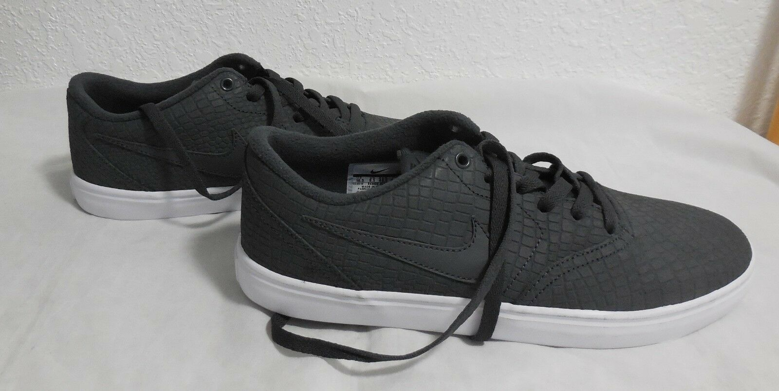 Nuovi uomini e controlla le scarpe di cuoio nike solare skate - dimensioni - grigio bianco
