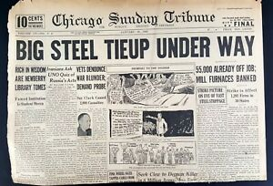 1946-Chicago-Tribune-Newspaper-January-20-War-Probes-Strikes